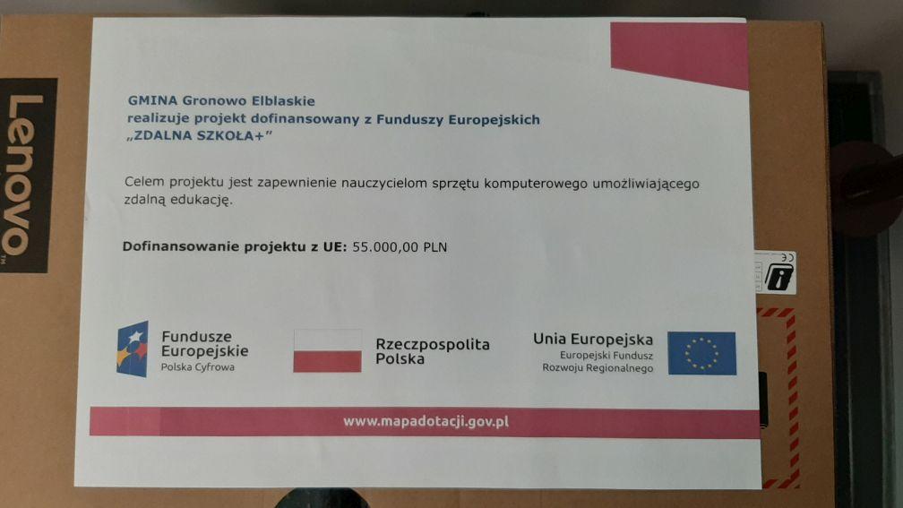 Ilustracja do informacji: Realizacja projektu Zdalna Szkoła + przez Gminę Gronowo Elbląskie