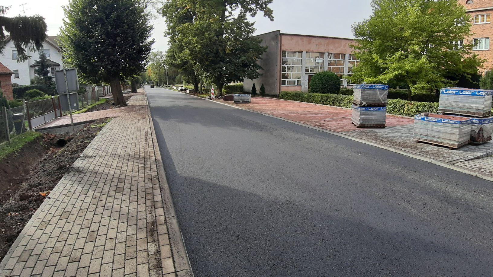 Ilustracja do informacji: Informacje o zaawansowaniu przebudowy drogi