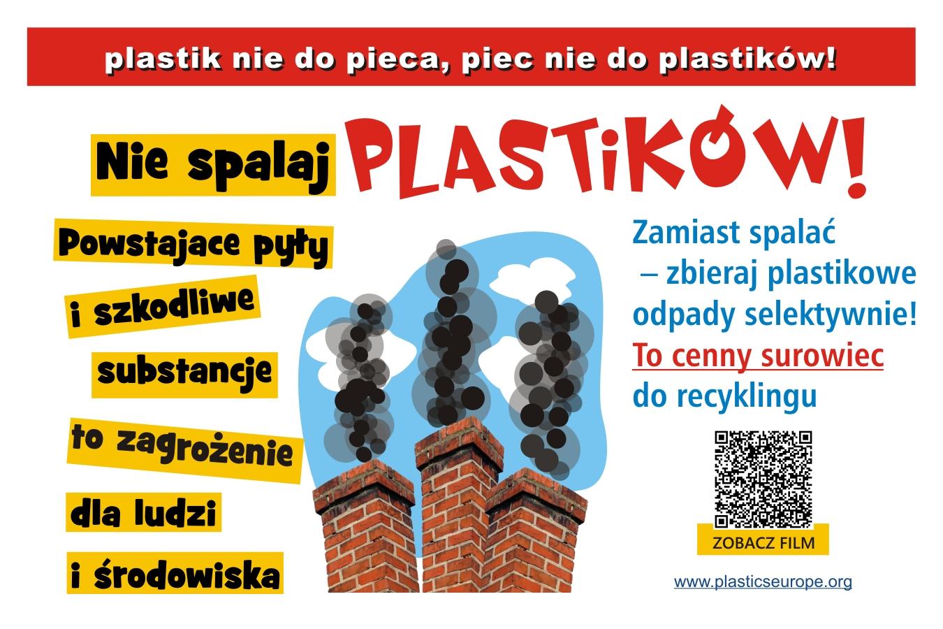 Ilustracja do informacji: W trosce o czyste powietrze Plastik nie do pieca - piec nie do plastiku