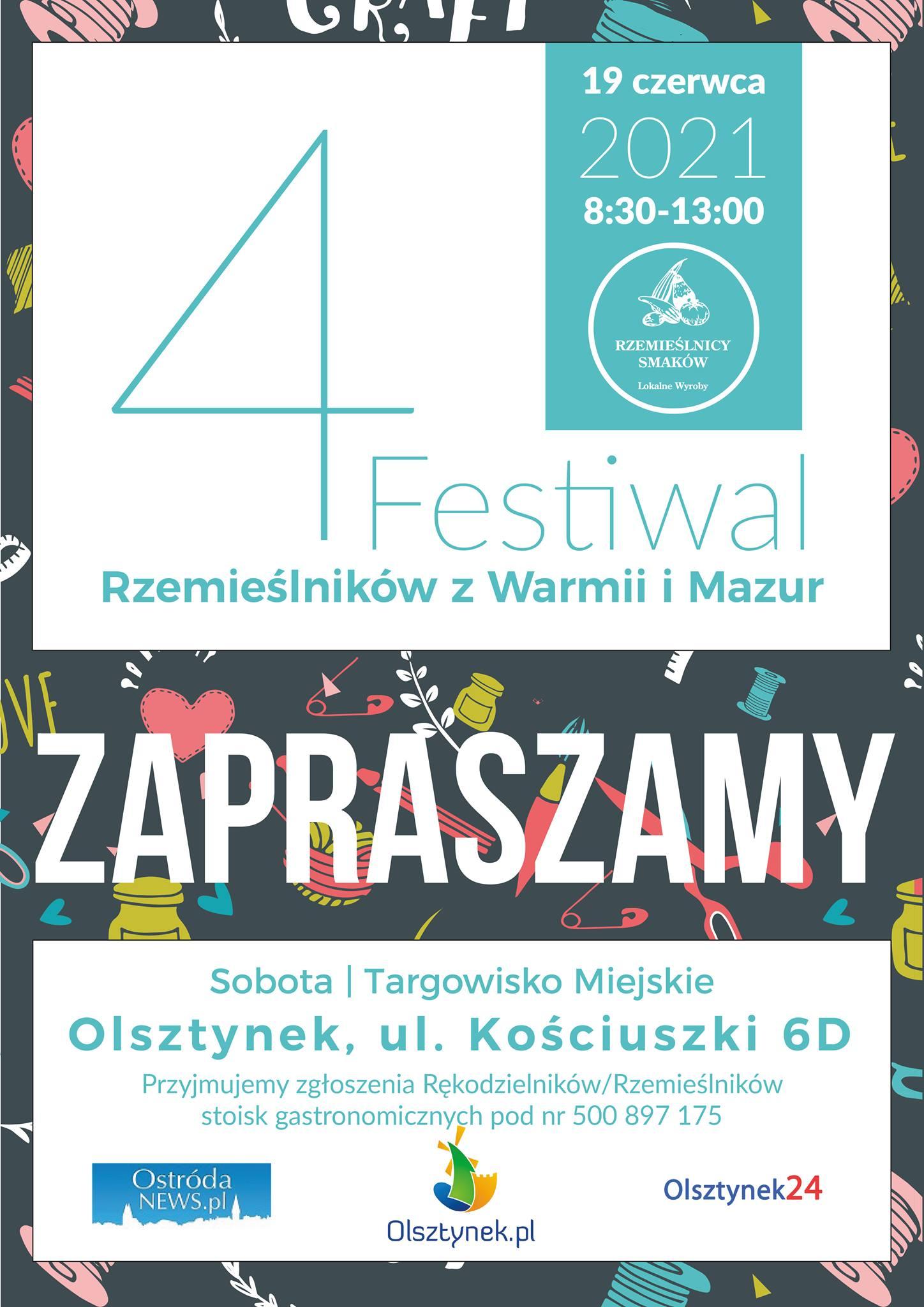 Ilustracja do informacji: 4 Festiwal Rzemieślników z Warmii i Mazur