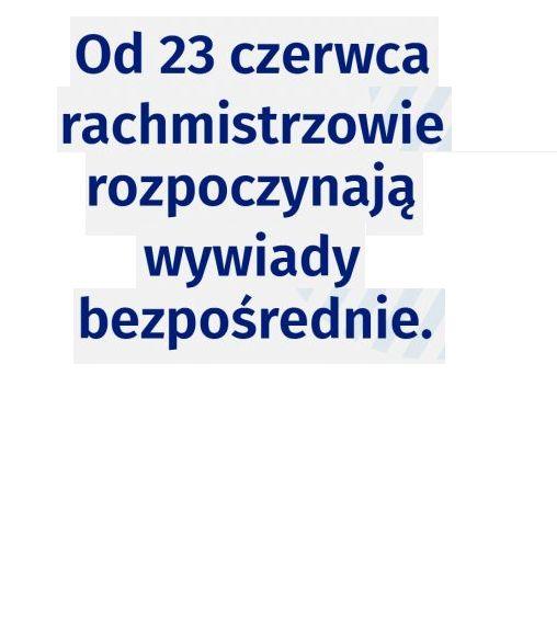 Ilustracja do informacji: Od 23 czerwca br. rachmistrzowie spisowi rozpoczną wywiady bezpośrednie