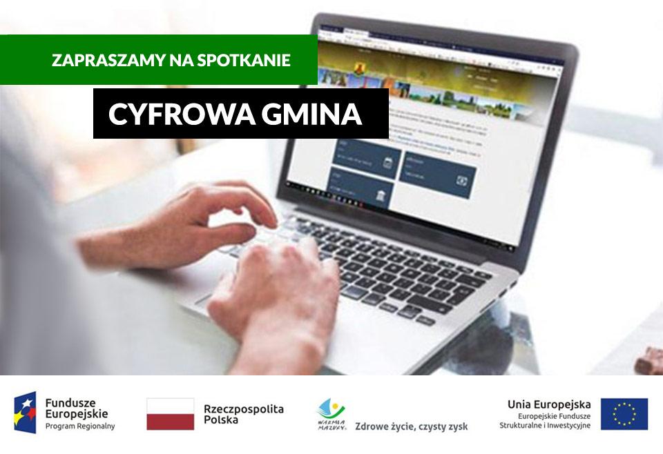 Ilustracja do informacji:  Cyfrowa gmina – rozwój e-usług w gminie Gronowo Elbląskie. Spotkanie.