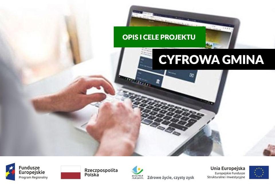 Ilustracja do informacji: Cyfrowa gmina – rozwój e-usług w gminie Gronowo Elbląskie. Opis, cel i wartość projektu.